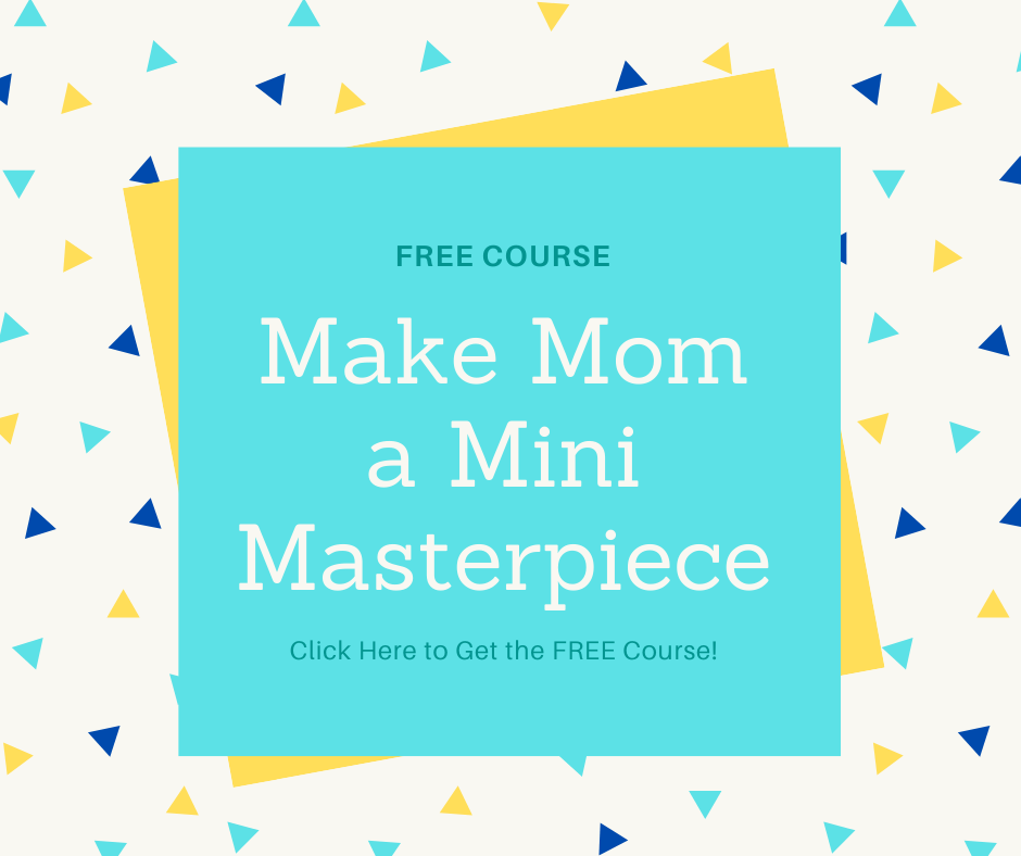 make mom mini masterpiece ad with confetti