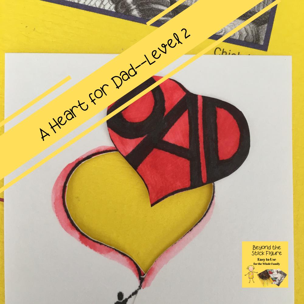 dad heart balloon card