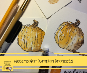 Watercolor Pumpkin Projects