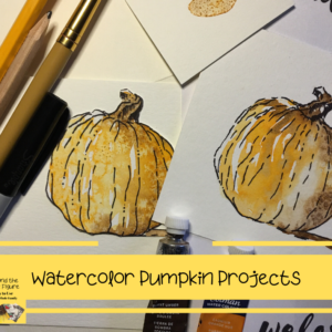 pumpkin painting and paint