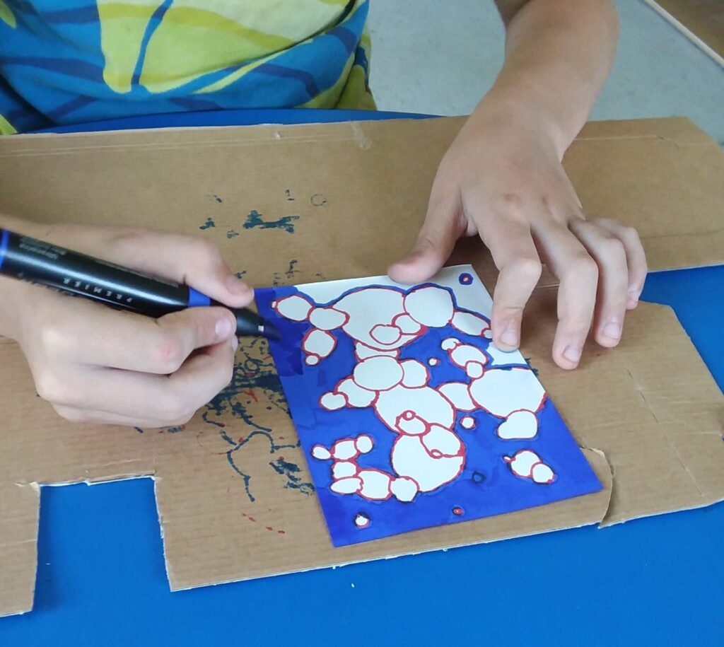 creative gifts for kids student coloring in art project with markers